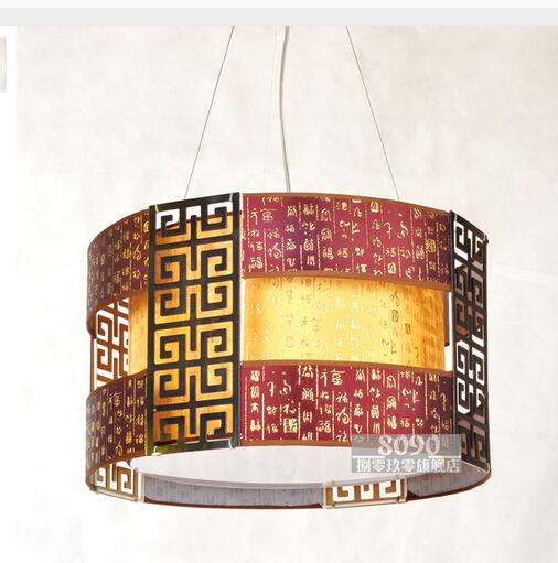 Chinese style Wooden 50CM Wooden pendant lamp dining room pendant light circle faux paper vintage lamps restaurant lighting ZS70 chinese style wooden 1 2 3 heads lamps chinese restaurant new classical restaurant chandelier wooden sheepskin chandelier