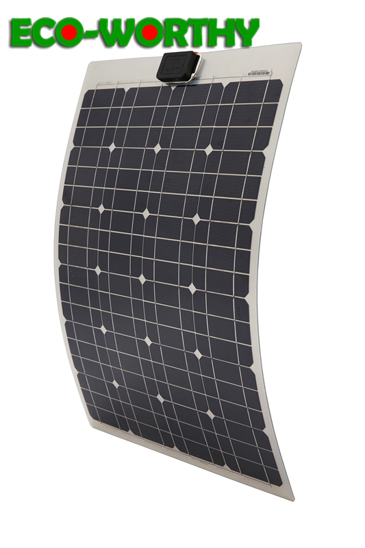 ECO 40W monocrystalline semi flexible pv 18V solar panel charge for 12v battery boat RV home