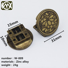 KIMXIN Hardware factory High-grade wooden box lock Zinc alloy arch-lock Lotus die cast round Equipped with screw W-009