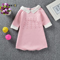 Fashion Children's Clothes Knit Baby Girls Rompers Spring Autumn Sweet Knitted Cotton Jumpsuits Cute Girls Costumes