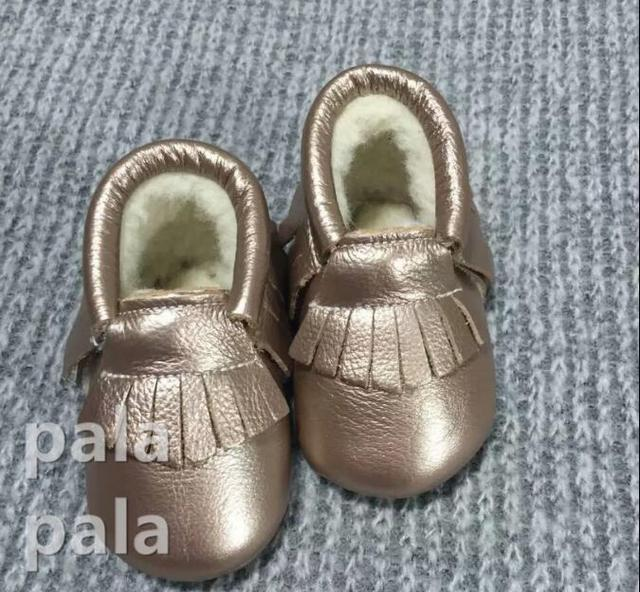 Envío Gratis Nuevo Llegado mocasines bebé Niño con suela de Goma antideslizante prewalker Niños zapatos de Bebé de cuero de Piel de Vaca