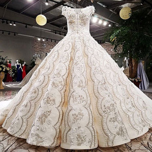 Image 2 - AIJINGYU Wedding Formals Indonesia Bridal With Sleeves Ball Gown 2021 Chinese New Wedding Dress