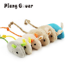 6pcs/lot Random Mix Pet Toy Catnip Mice Cats Toys Fun Plush Mouse Cat Toy For Kitten(China)