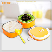1 set High quality 800ml/1600ml/2400ml outdoor portable thermal food lunch boxes Insulation box stainless steel Lunchbox 5ZKC024