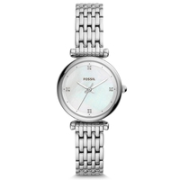 FOSSIL Ladies Watch Carlie Mini THREE HAND Stainless Steel Watch Luxury Wrist Watches for Women Stylish ES4430P
