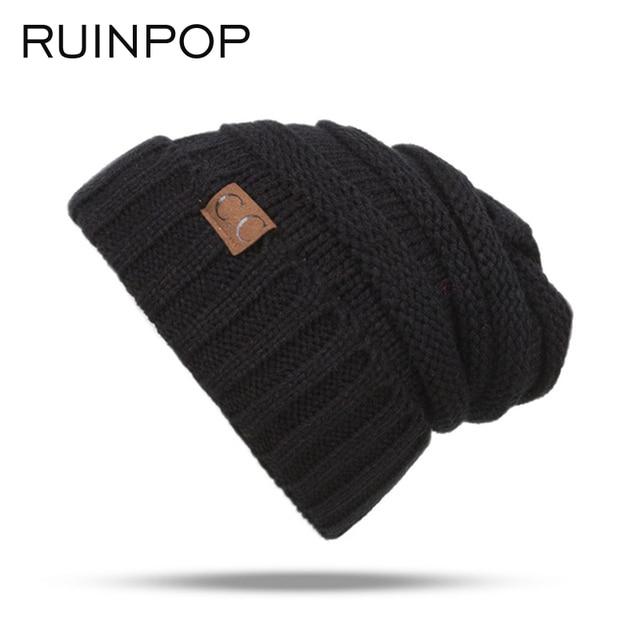 RUINPOP Children Winter Hats Cute Boy Girls Skullies Beanies Cap Casual Cotton Beanie Knitted Hats Autumn Kids Warm Hat Beanies