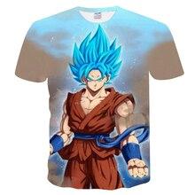 Hot Summer New Men/Women 3D Printing Wukong Dragon Ball Z T Shirt Gohan trunks vegeta cotton brand collar t s