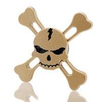 Skull Head EDC Tri Spinner Fidget Toys Pattern Hand Spinner Metal Fidget Spinner And ADHD Adults