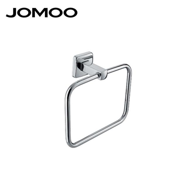 jomoo wall mounted towel bar brass chrome square shape towel rack holder bathroom accessories towel ring