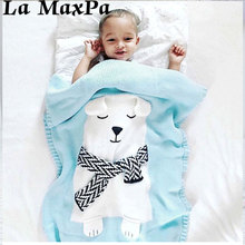 2018 New Fashion Winter Baby Blanket Knitted Newborn Swaddle Wrap Blankets Warm Sleeping Stroller Blankets Baby Photograph Props цены онлайн