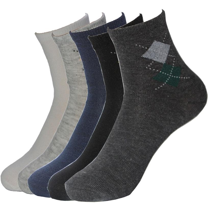 1 Pairs Hot Fashion Harajuku Happy Socks Men Quality Business Casual Black White 5 Colors  Warm Funny Socks Gifts For Man Meias