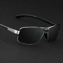 Мужские солнцезащитные очки с поляризационными линзами. Зеркальные мужские очки для водителей, рыбаков, спортсменов. Артикул AE2490