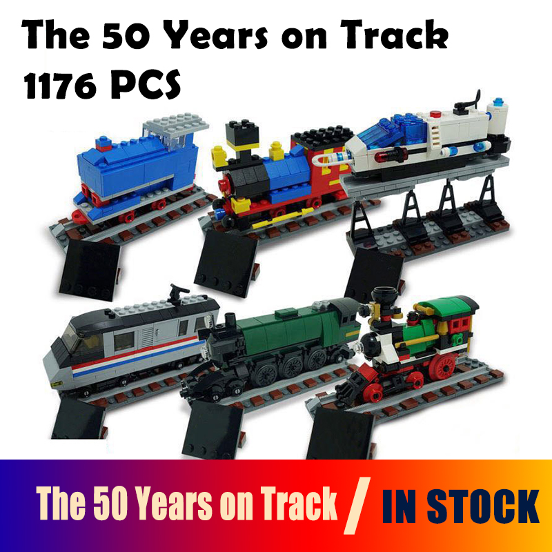 Model building blocks Compatible with Lego Technic Series 4002016  21029 1176Pcs The 50 Years on Track bricks toys for children lepin 20031 technic the jet racing aircraft 42066 building blocks model toys for children compatible with lego gift set kids