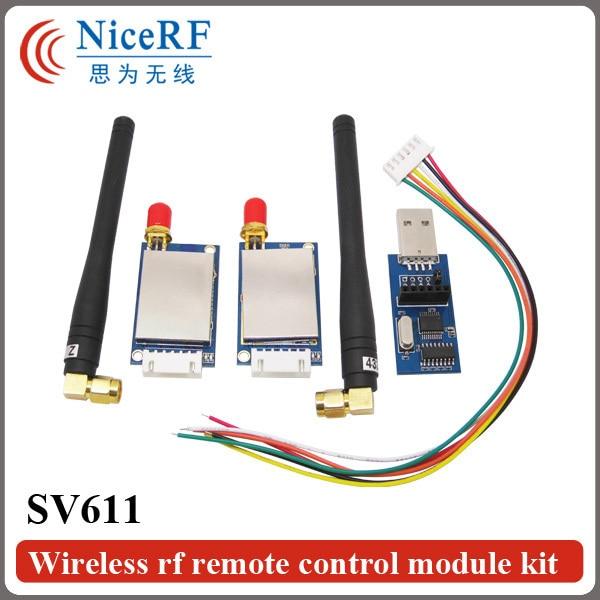 2pcs/lot 915MHz RS485 Interface| 20dBm Transmit power  |100mW Wireless RF Module SV611