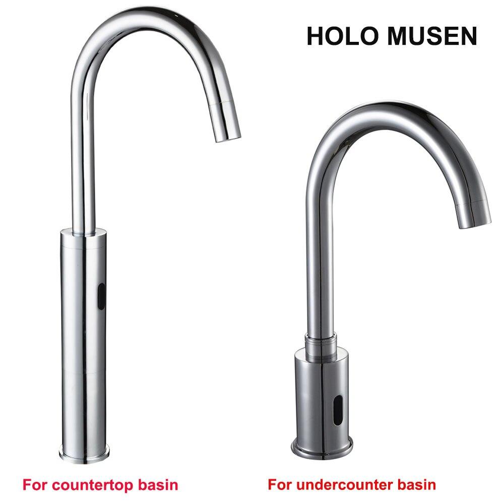Touchless Quality Brass Chrome Sensor Tap Water Saving Automatic Sensor Faucet Bathroom Basin Faucet Sensor цена
