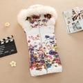 2016 Весна Осень новый женский короткий Дизайн печатных жилет Slim Fit с капюшоном жилет большой ярдов повседневная женщин Пиджаки жилет Z2360