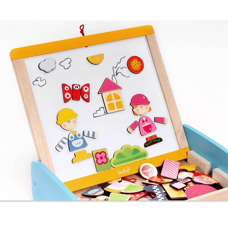 Reißbrett Zu Neue Jahr Die Magnetische Tafel mit Abacus Holzspielzeug Für Kinder Weihnachtsgeschenk für Kinder - 3