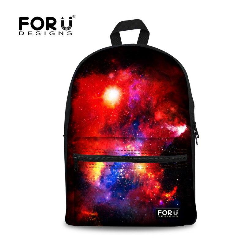 FORUDESIGNS/женские рюкзаки, крутой цветной Galaxy Star рюкзак для холстов для девочек-подростков, повседневный дорожный Школьный Рюкзак Для Ноутбука - Цвет: C0165J