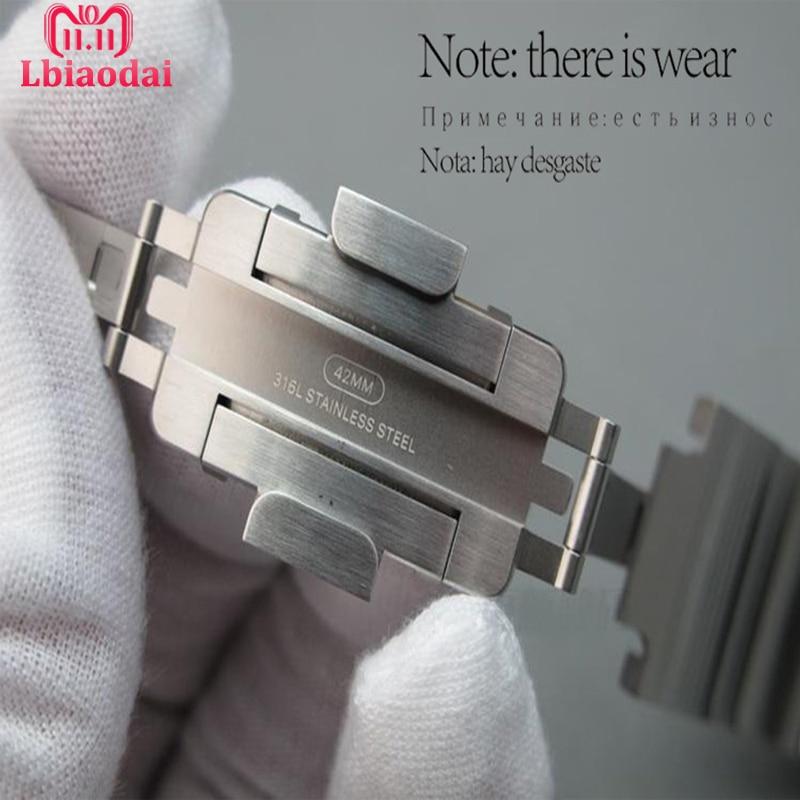 Braccialetto di collegamento Della Cinghia Per Apple Watch band 42mm 38mm 44mm 40mm iwatch serie 4/3 /2/1 genuino Originale in acciaio inox cinghia da polso