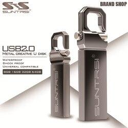 Металлический USB флеш-накопитель Suntrsi, 64 ГБ, флеш-накопитель из нержавеющей стали, водонепроницаемый высокоскоростной флеш-накопитель, 4 ГБ, 8...