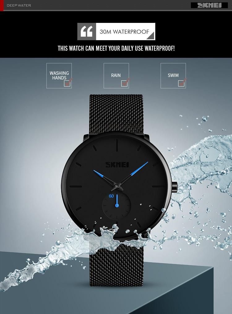 SKMEI Fashion Men Quartz Watch Children Digital Watch Big Dial Waterproof Parent-child Watches relogio masculino 9185 1455 Set 6