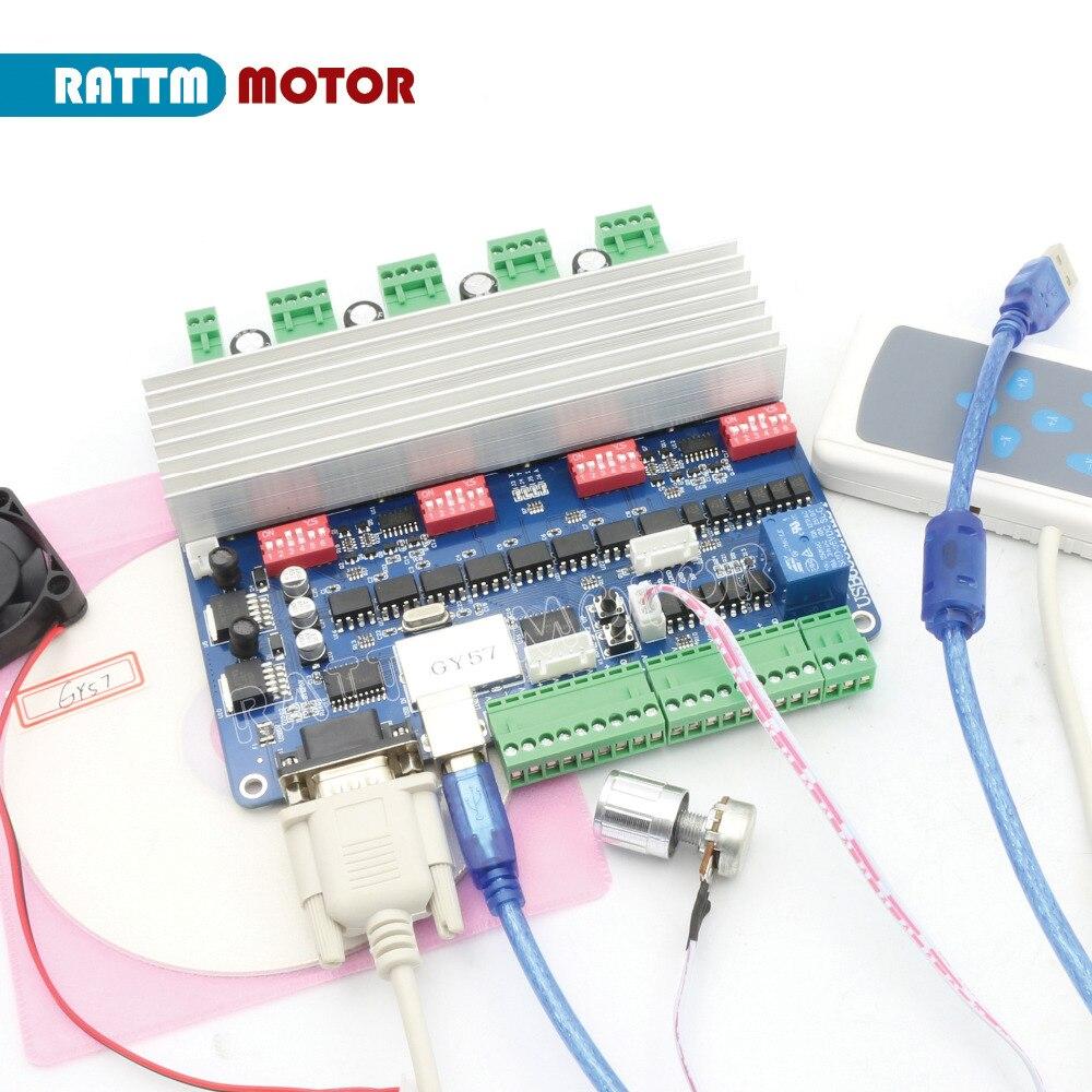 4 Axis USBCNC controller driver board USB port with Hand control CNC controller board CNC machine for RATTM MOTOR