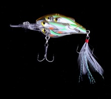 75MM 9G HOT NEW 4baby embryo FISH clear feather tails Fishing fake bait lure ICE bass catfish carp panfish trout walleye tilapia