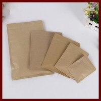 20*30cm 50pcs kraft paper ziplock bag for gift/tea/candy/jewelry/sweets/bread Packaging Paper food bag diy Jewelry Pack Display