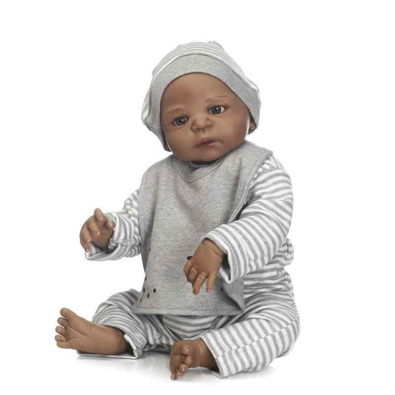 55 см 22 дюйма полное тело reborn baby кукла и одежды Ванна игрушка playmate детские игрушки Успокаивающая кукла ролевые игры игрушки рождественские подарки