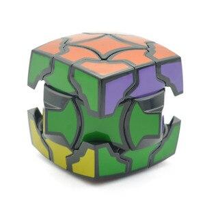Image 3 - Ô Ma Thuật 3X3X3 Tốc Độ Khối Xoắn Đồ Chơi Xếp Hình Trí Não Teaser 3D IQ Game MỊN 3X3 Đen Không Đều 54 Mm Hình Dáng Kỳ Lạ ABS