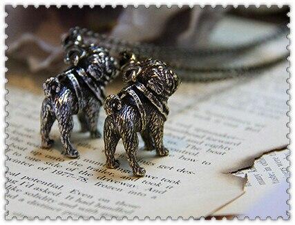 Фото ожерелье для мопса ожерелье ручной работы тисненый кулон ювелирных цена