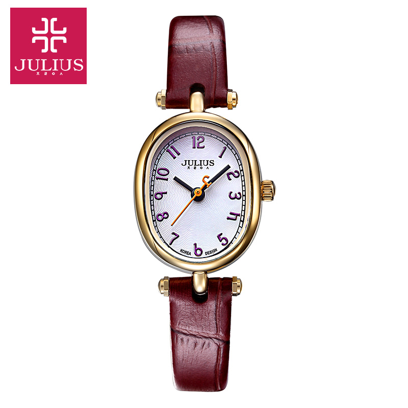 Julius Women's Wrist Watch Japan Quartz Hours Fine Fashion Dress Leather Bracelet Simple Retro Birthday Girl Christmas Gift new simple cutting glass women s watch japan quartz hours fashion dress stainless steel bracelet birthday girl gift julius box