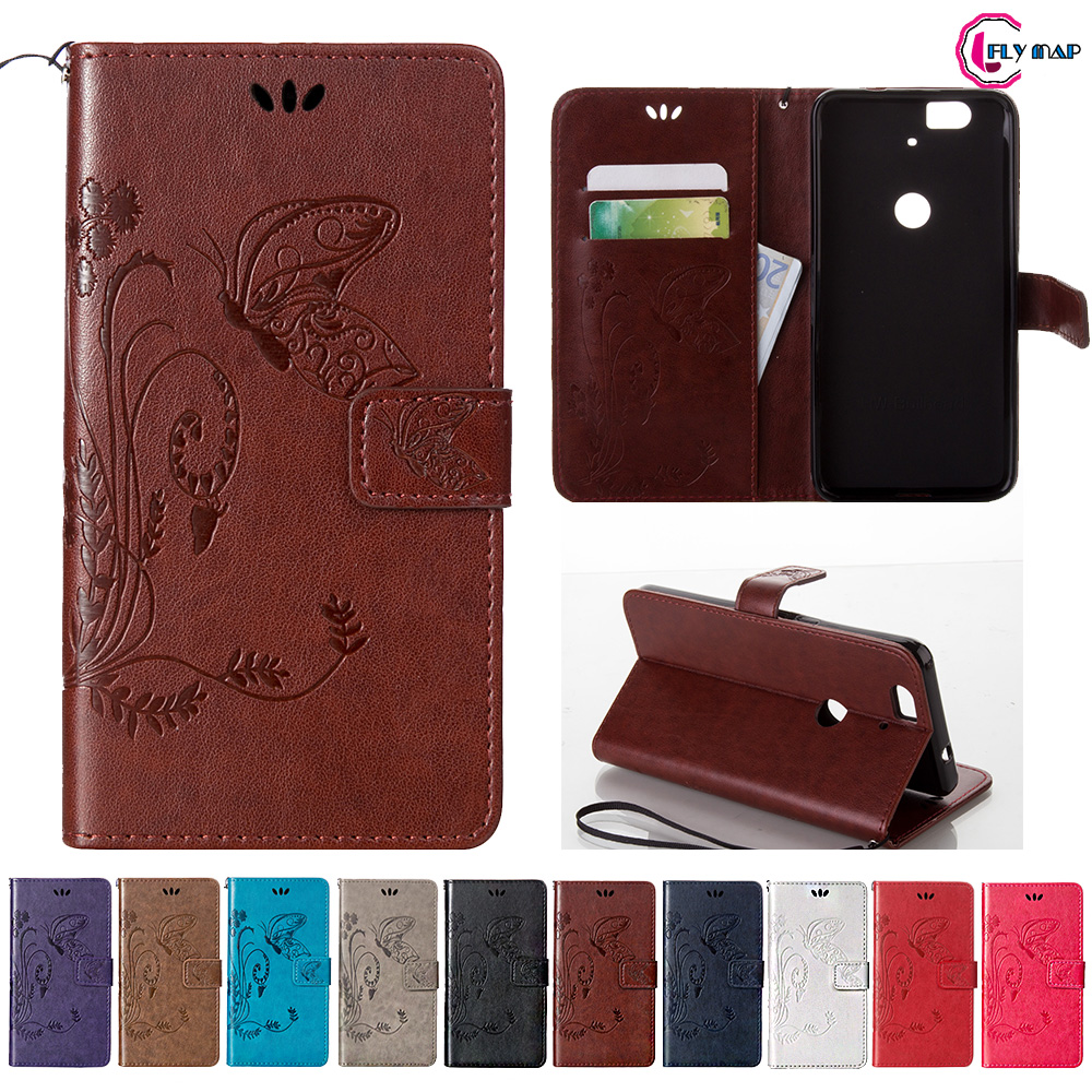 Coque for Google Huawei NEXUS 6P 6 P Case Phone Leather Cover for Huawei NEXUS6P H1511 H1512 Retro Butterfly Wallet Flip Case