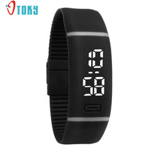 Colorful Fashion Young Mens Womens Watches Rubber LED Date Sports Lovers Bracelet Digital Wrist Watch Creative Apr14