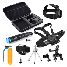 SHOOT Universal Camera Accessories Set Kits For Gopro Session Xiaomi Yi 4K SJCAM Sony Eken h9 Large Case Selfie Stick for Go Pro