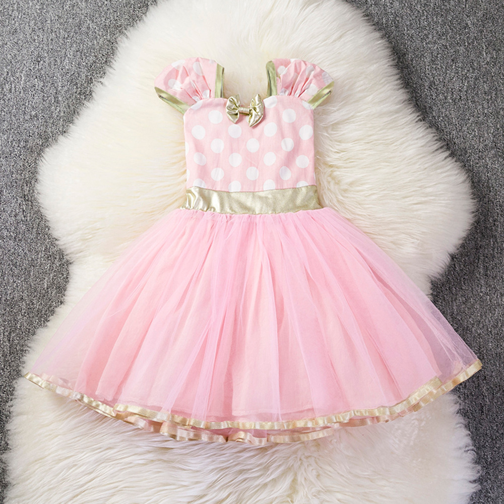 NEW Girl Birthday Party Dress For Halloween Cosplay Minnie Mouse Dress Up Kid Christmas Costume Baby Girls Clothing For Kids