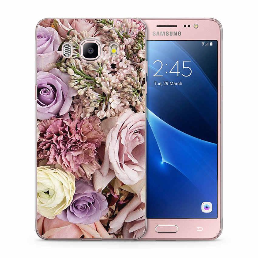 Flores caso de teléfono para Samsung Galaxy J1 J3 J5 J7 J2 primer J120 J320 J330 J530F claro funda suave B026