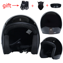 VOSS до даты moto rcycle шлем 3/4 открытым лицом Ретро шлем кафе-рейсер capacete viseira bolha casco moto каск