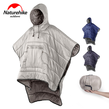 Naturehike Warm Cotton Sleeping Bag Portable Quilt Outdoor Camping Travel Wearable Water-resistant Cloak