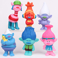 2016 Trolls Movie 6Pcs/Set 8cm Dreamworks Figure Collectible Dolls Poppy Branch Biggie PVC Figures Doll Toy Trolls Figures Toys