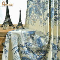 Cotton Linen Printed Blackout Curtain Window Cortina Bedroom Curtains For Living Room Curtain Kitchen Window Curtains