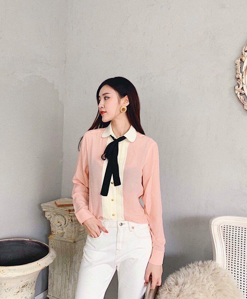 BH05680 Модные женские блузки и рубашки 2019 для подиума роскошный известный бренд Европейский дизайн вечерние Стиль Женская одежда