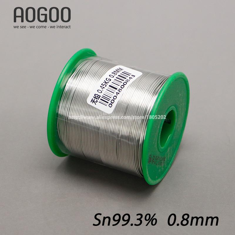 450g 0.5|0.8|1.0|1.2|1.5|2.0|2.3mm Lead Free Solder Wire Health Sn:99.3% Tin Wire Melt Rosin Core Big Roll Model:Sn 0.7Cu