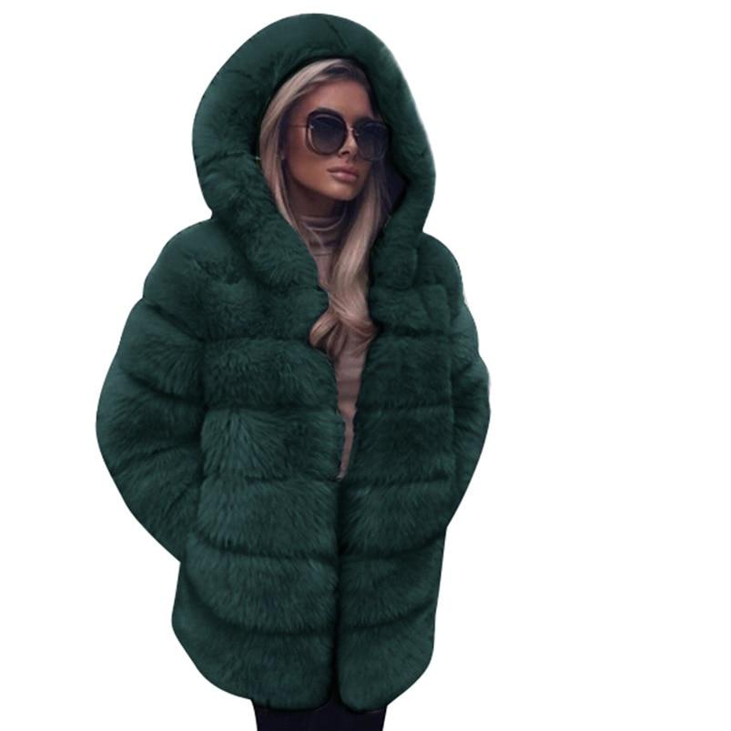 Zipper Winter Coat Women 2018 Sleeveless Fur Cashmere Hoodie Coat Girl Warm Pullover Thick Coat femenino #N28 (8)