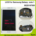 1 unids blanco alta calidad del marco del panel lcd display + touch screen asamblea del digitizador para samsung galaxy note 1 n7000 i9220 note1