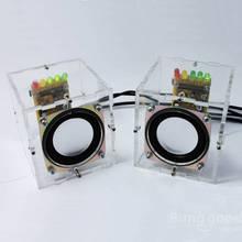 Fábrica Al Por Mayor Libre del envío DIY Mini Altavoz Altavoz Amplificador Kit Transparente Kit de Aprendizaje Electrónico