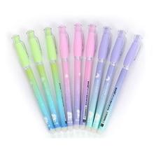 12pcs/Pack Cute Erasable Pens For School 0.38mm Magic Blue Black Ink Gel Pen Kawaii School Office Writing Stationery Pen цена