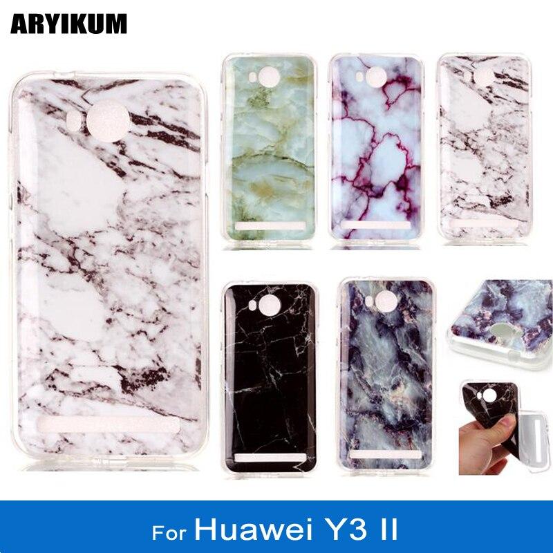 ARYIKUM Phone Case For etui Huawei Y3 II Y3II lua l21 lua l22 Case For Huawei Y3  2 Silicone Marble