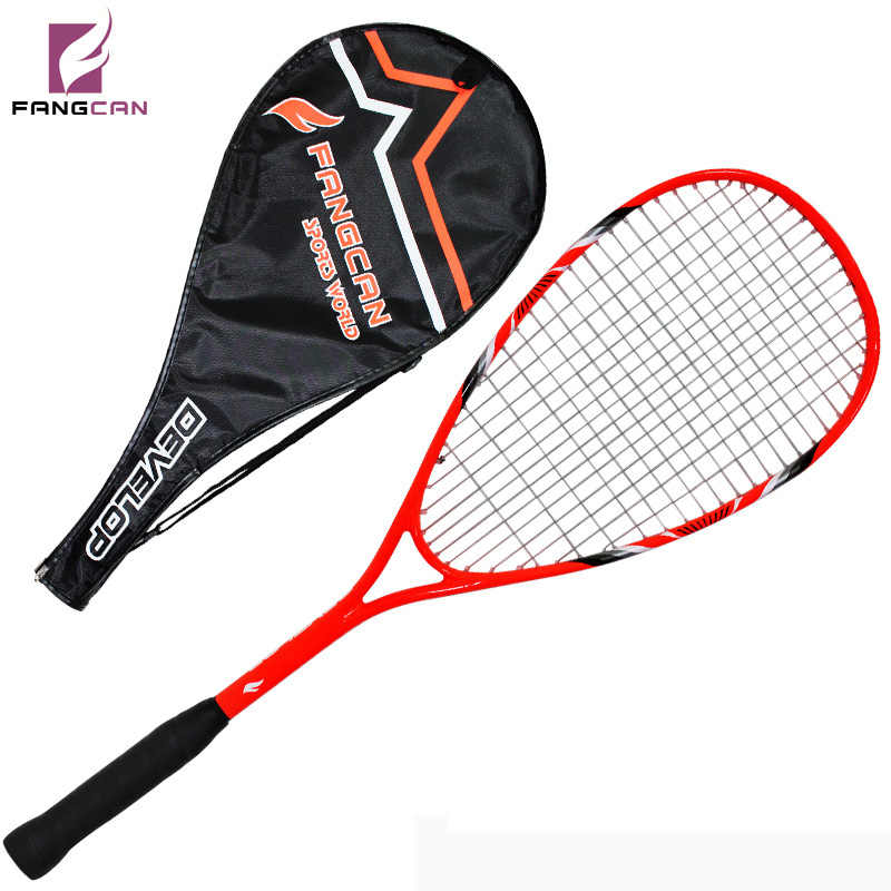 2pc/lot FANGCAN FCSQ-01 Aluminum Carbon Composite Alloy Squash Racket for Primary Players with String with Cover