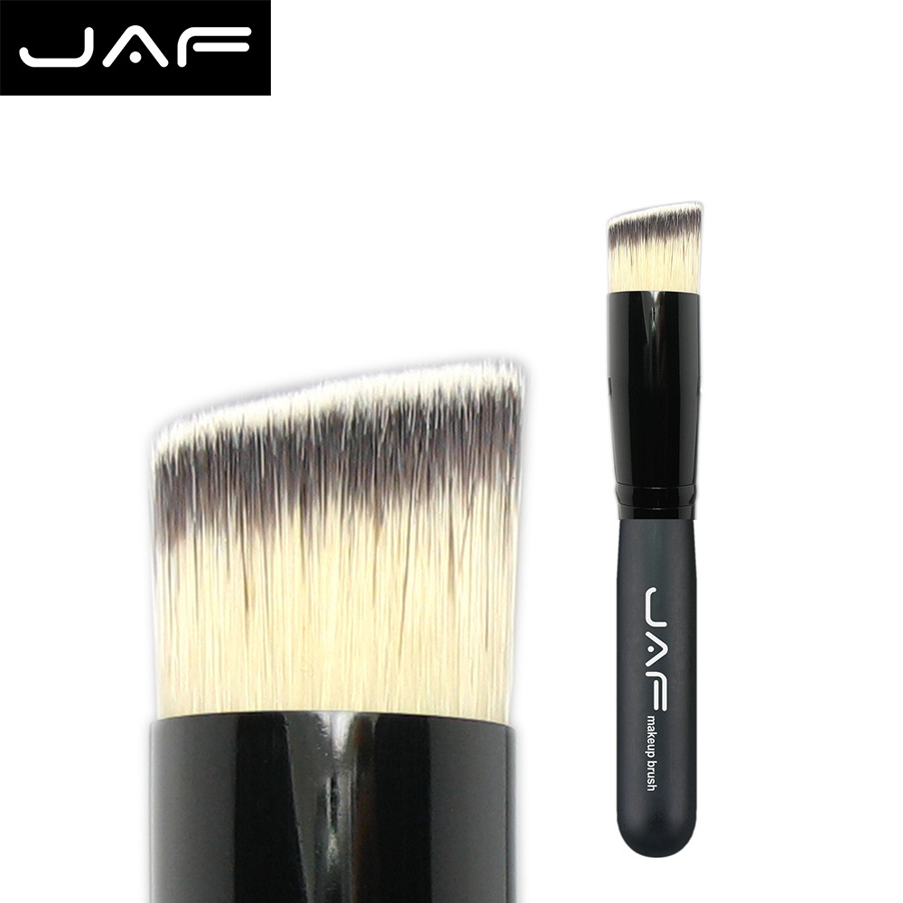 JAF Angled Multifunction Face Makeup Brush Liquid Foundation Contour Powder Make Up Slant Brush Synthetic Taklon Vegan 16STA